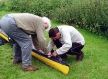 Faltboot-Reparatur
