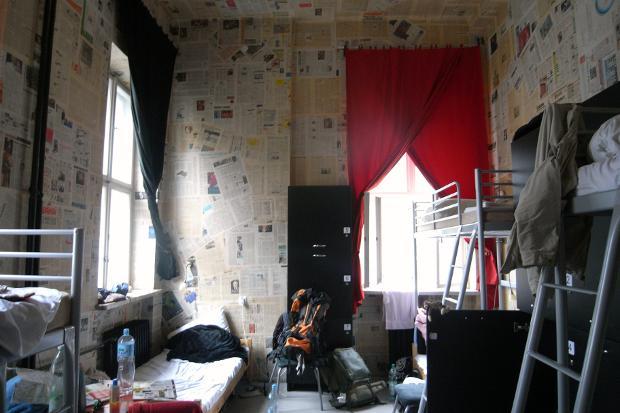 Raum in einem Hostel