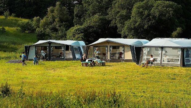 Camping mit dem Wohnwagen